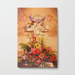 Faith Hope Charity - Christian Cross Metal Print