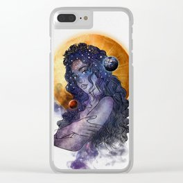The queen of universe. Clear iPhone Case