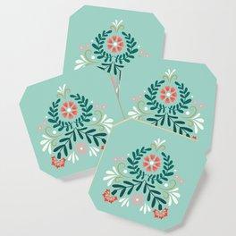 Floral Folk Pattern Coaster