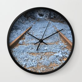 Railway to Blissful Oblivion Wall Clock