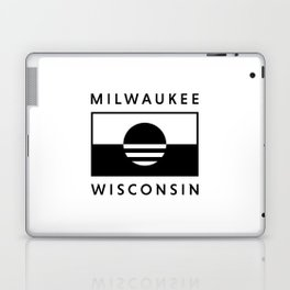 Milwaukee Wisconsin - White - People's Flag of Milwaukee Laptop & iPad Skin