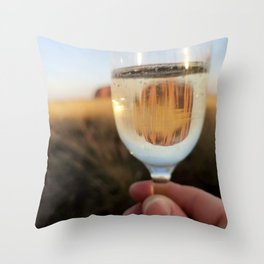 Cheers to Uluru Throw Pillow