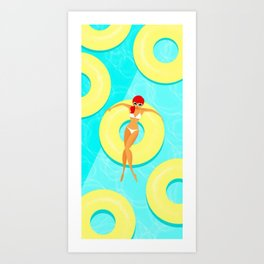 Summer hot women Art Print