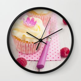 Two cupcakes Wall Clock