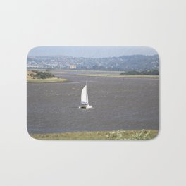 *Sailing into Launceston Tasmania* Bath Mat