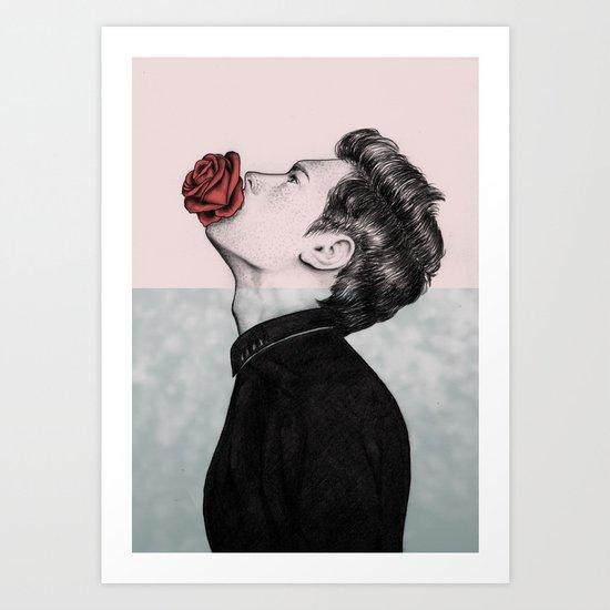 Mouth Flower Art Print