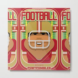 American Football Red and Gold - Enzone Puntfumbler - Seba version Metal Print