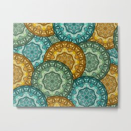 Royal disc pattern Metal Print