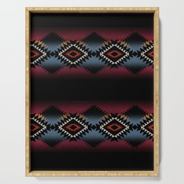 aztec in black number 5 Serving Tray