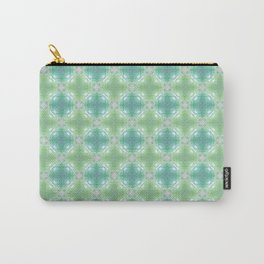 Watercolor Jungle Blue Orb Carry-All Pouch