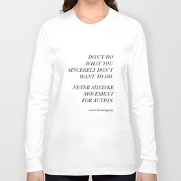 Movement for Action Long Sleeve T-shirt
