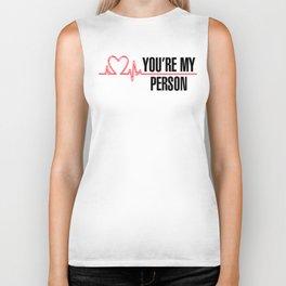 "Grey's Anatomy - ""You're My Person"" Biker Tank"
