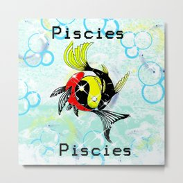 Pisces Astrology Sign Metal Print