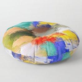 Abstract Glitch Pixel Art 1 Floor Pillow