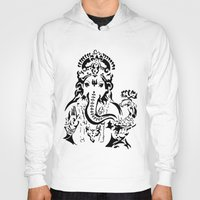 ganesh Hoodies featuring Ganesh by ShivaR