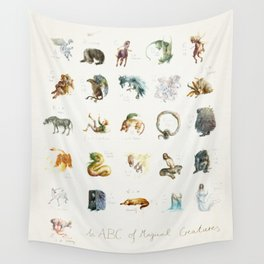 ABC of Magical Creatures Wall Tapestry