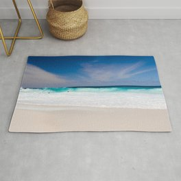 Tropical Turquoise Waves Rug
