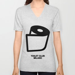 TOILET CLUB #toiletpaper Unisex V-Neck