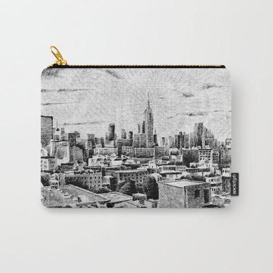 New York City - Fingerprint - Black ink Carry-All Pouch