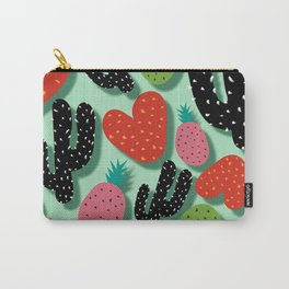 Cactus Love and Pineapples Carry-All Pouch