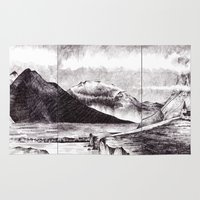 iceland Area & Throw Rugs featuring Iceland by Justine Lecouffe