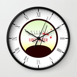 Red Hot Love Meter Wall Clock