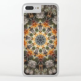 Trichomes Tangerine Clear iPhone Case