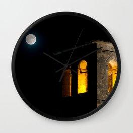 Church & moon Wall Clock