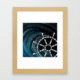 NAUTICAL CHIC (WHEEL) Framed Art Print