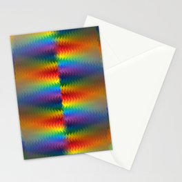 Rows of a Rainbow Fire Stationery Cards