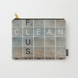 Bathroom 'Scrabble' Letters Carry-All Pouch