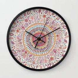 Sunflower Mandala Wall Clock