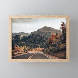 Fall Road in Colorado Framed Mini Art Print