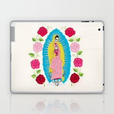Skull Virgin of Guadalupe_ Hand embroidered Laptop & iPad Skin