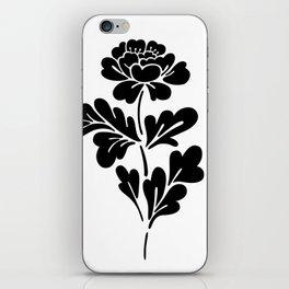 Black Rose iPhone Skin