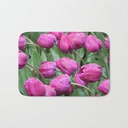 Rain - Pink Tulips Bath Mat