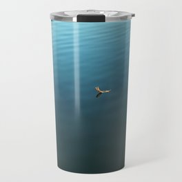 Feather on Water Travel Mug