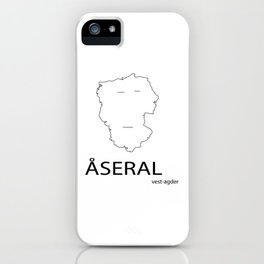 map of åseral iPhone Case