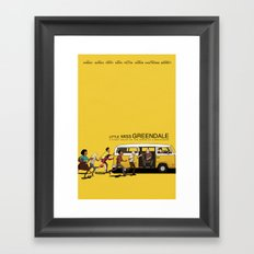 LITTLE MISS GREENDALE Framed Art Print
