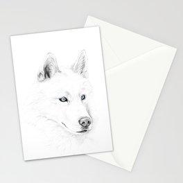 Saber :: A Siberian Husky Stationery Cards