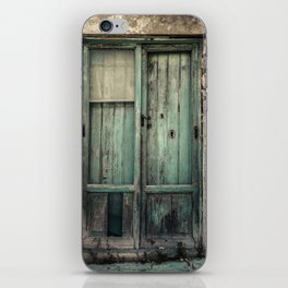 Old Green Door iPhone Skin