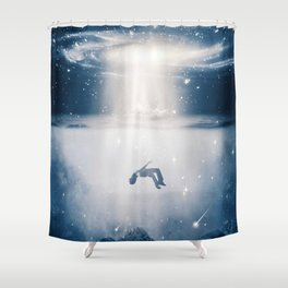 Ascent or Descent by GEN Z Shower Curtain