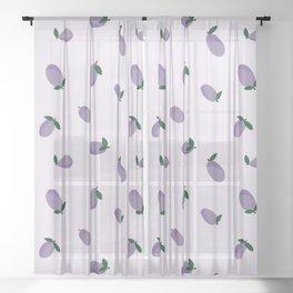 Plums Sheer Curtain