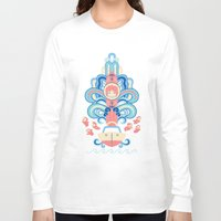 deco Long Sleeve T-shirts featuring Ponyo Deco by Ashley Hay