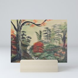 The green forest Mini Art Print