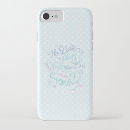 You Are Loved Mom - Number 6:24 - Polka dots iPhone Case