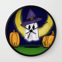 Haunting the Pumpkin Patch Wall Clock