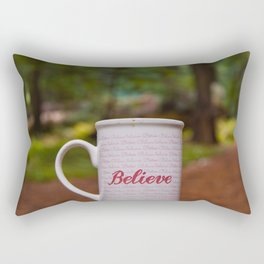 Believe Inspirational Photography, Avenue of the Giants, California Art, Humboldt Redwoods State Park Rectangular Pillow
