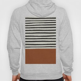 Burnt Orange x Stripes Hoody