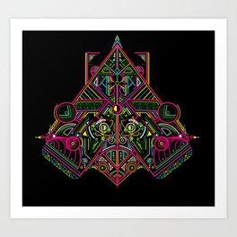 Neon Plating Art Print